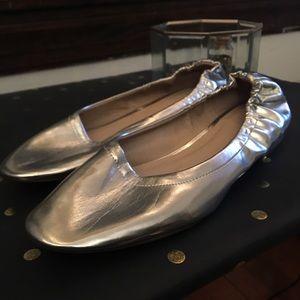Asos Metallic Silver Flats